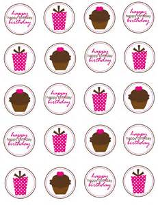 Cupcake Toppers Printable Cupcake Toppers Or Tagsinstant By