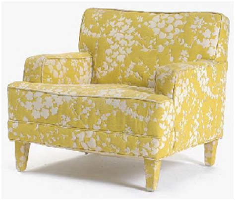 yellow patterned armchair a seniah chair upholstered in a yellow and white peony