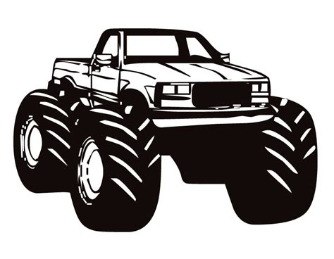 mud truck clip art the gallery for gt monster truck silhouette