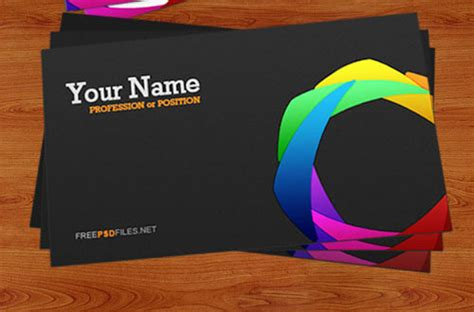 colorful business card template 50 free business card psd templates creativecrunk