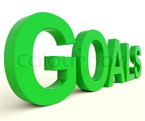 images of goals goals word showing objectives and future stock