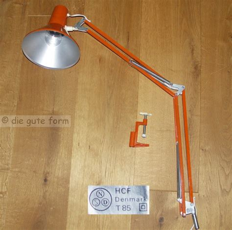 len 70er stil 70er orange schreibtisch le hcf denmark t85 gelenkle