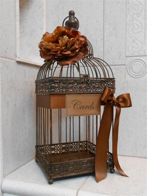 how to decorate a birdcage home decor wedding card box bird cage wedding card holder rustic