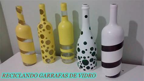 video como decorar garrafas de vidro fa 231 a voc 234 mesma reciclando garrafas de vidro para