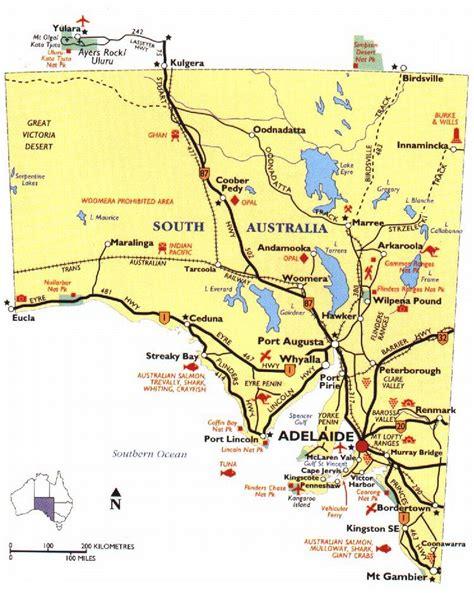 south australia map map of australia region political