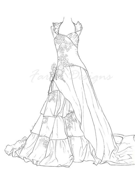 barbie dress coloring pages barbie night dress coloring 01 pinteres