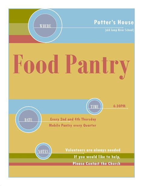 Food Pantry Flyer by Outreach S Community Church