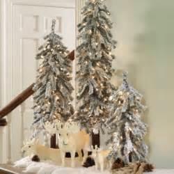 martha stewart pre lit flocked alpine tree traditional