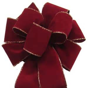 hand tied bows wired burgundy velvet bow 8 inch