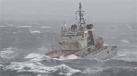 tugboat gif tugboat endures a stomach churning ride while pulling a