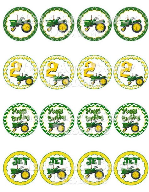 Deere Cupcake Decorations by Printable Quot Tractor Cupcake Toppers Quot Deere Themed
