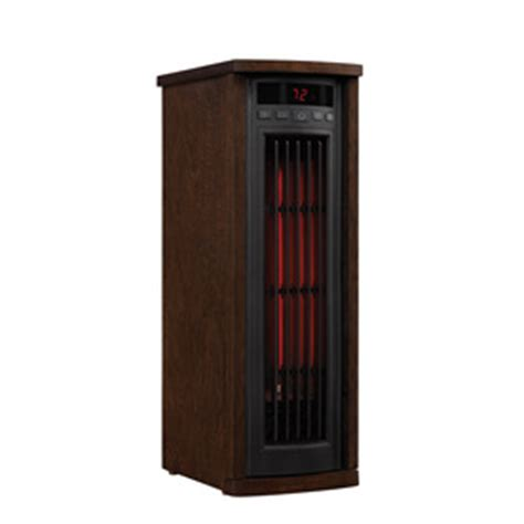 duraflame 5200 btu infrared cabinet electric space heater shop electric space heaters at lowes com
