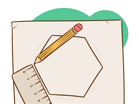 How To Draw A Nonagon Step By Step With Pictures