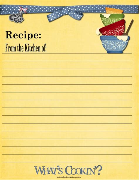 recipe cards pink polka dot creations