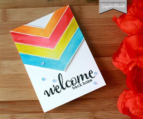 Handmade Welcome Cards - chevron and handmade on
