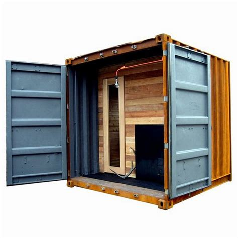 diy steam room sauna box is a self contained steam room in a shipping container