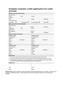 Credit Agreement Template 45 free credit application form templates amp samples free