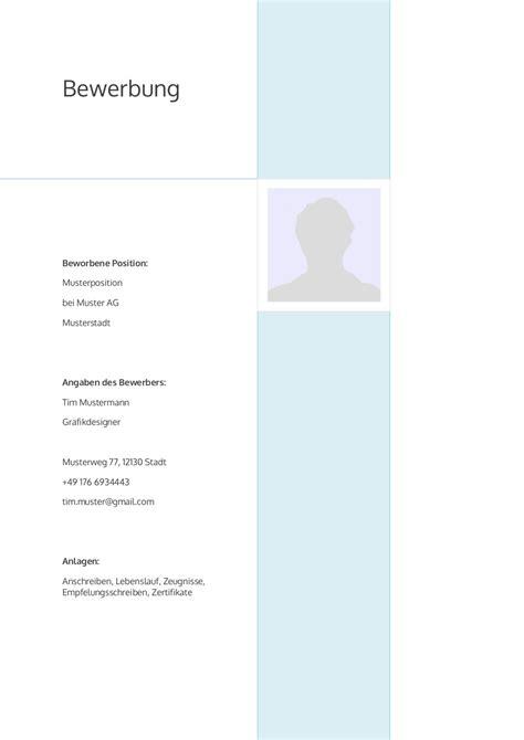 Anschreiben Bewerbung Lehrer bewerbung deckblatt muster vorlage 4 lebenslauf designs