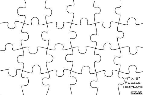 blank jigsaw template blank template of 8 x 11 puzzle search results