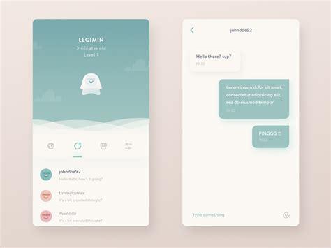 app design japan mondo inbox and conversation interface by ghani pradita