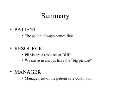 Mba Manager Patient Care by Patient Resource Management O Brien Barrington Mba
