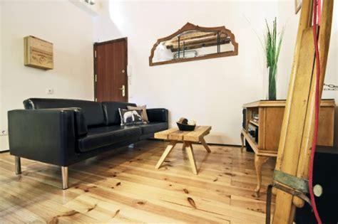 Merveilleux Deco Interieur Style Industriel #2: appartement-design-deco-contemporaine-style-industriel-parquet-bar-poutre-apparentes-mobilier-en-bois-recycle-2.jpg