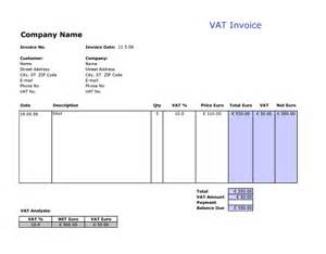 Download and customize this vat invoice template for your personal or