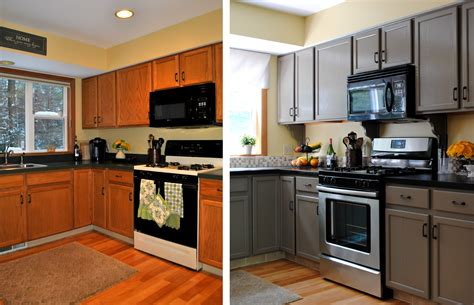 pictures of painted kitchen cabinets before and after triple feature in kitchen bath makeovers magazine