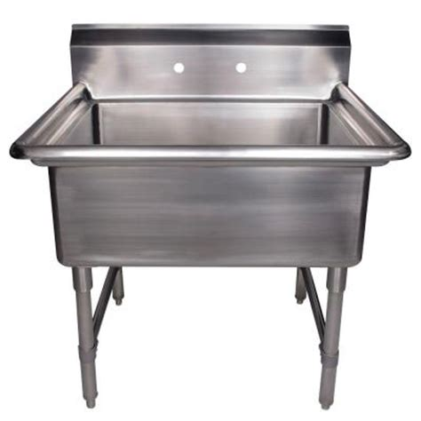 stainless steel utility sink freestanding whitehaus collection noah s collection freestanding