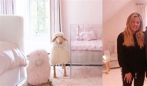 kim kardashian baby room photos khloe kardashian shares first photo of baby true s nursery