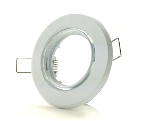 Solar Tea Lights White Gu10 Downlight Fitting With Adjustable Tilt