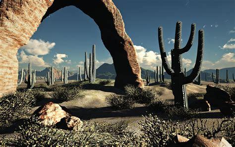 landscapes nature desert cactus wallpaper 1920x1200