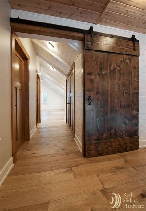 Sliding Wood Doors Interior Barn Doors Made From Reclaimed Douglas Fir Salvaged From A Nearby Warehouse Living Room