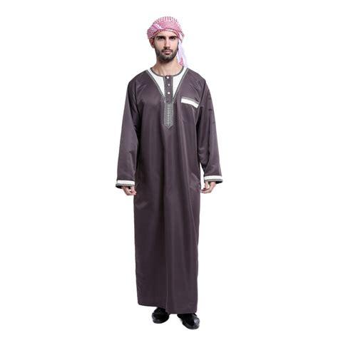 mens thobe saudi abaya galabeya arabic kaftan muslim dress