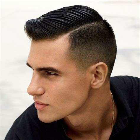 a medium haircut with side part and tapered in the back 25 modern hairstyles for men 2018