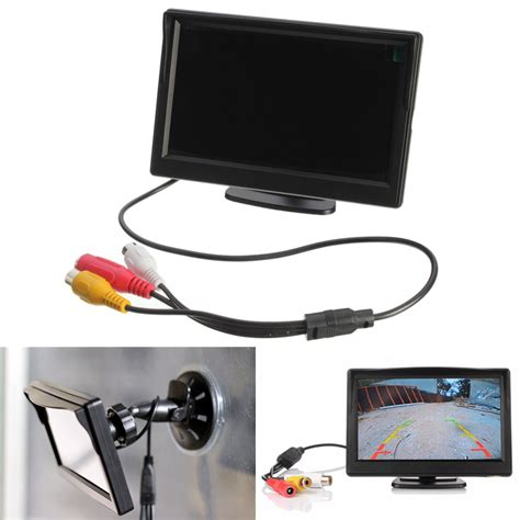 Lcd Car Monitor 5 inch tft lcd car rear view rearview monitor with stand