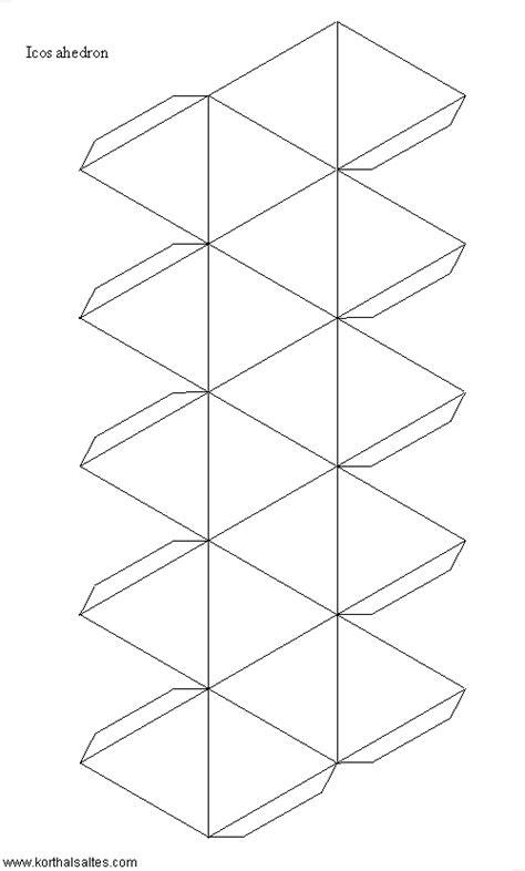 icosahedron template paper icosahedron
