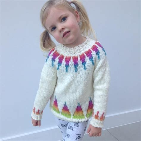 rainbow pattern jumper rainbow spikes children s sweater knitting patterns and