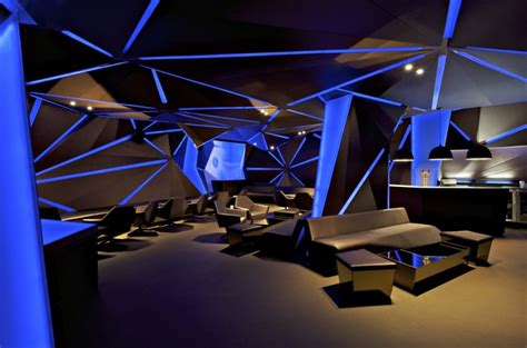 futuristic interior design cafe carbon bar design by khosla associates architecture
