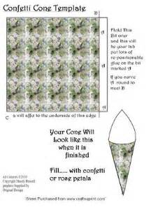Cone Card Template by Confetti Cone Template Wedding Templates Cup60776 593