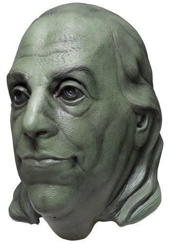 green benjamin franklin adult mask