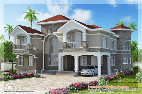 luxury homes design 4 bedroom double floor indian luxury home design kerala