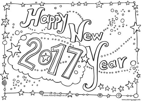 color for 2017 happy new year 2017 coloring pages printable