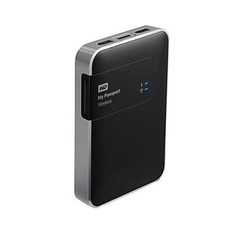 Wd My Passport Wireless Usb 30 External Drive 1tb Black 1 wd my passport wireless 2tb external drive 256mb cache usb 3 0 black by office depot