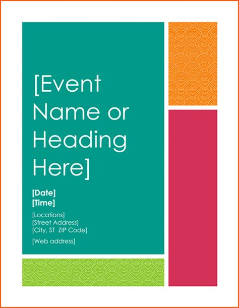 event templates for word 8 free flyer templates for word bookletemplate org