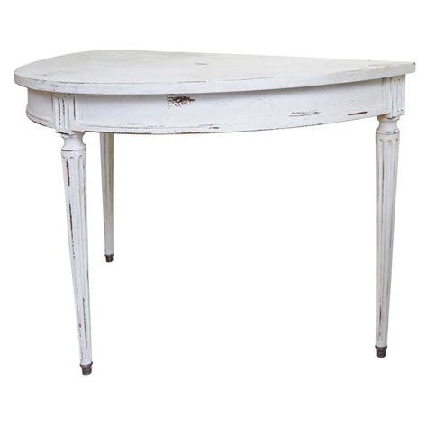half round sofa table french half round console table at 1stdibs