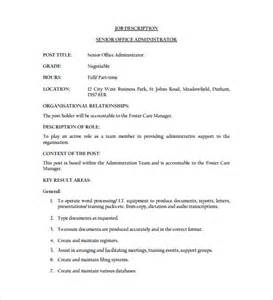 office junior description template office administrator description templates 10 free