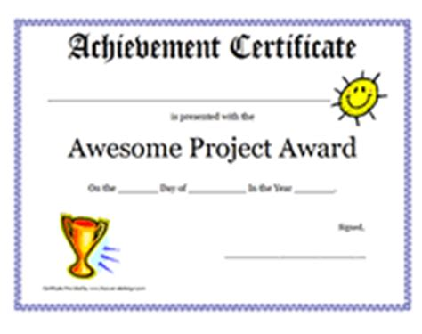 awesome certificate templates free printable awesome project award certificates