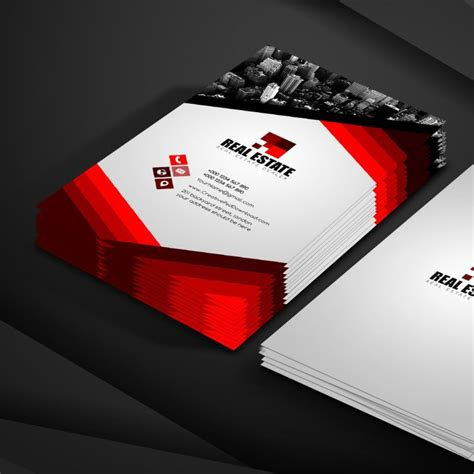real estate business card template psd 100 free business card psd templates