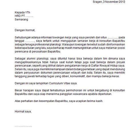 contoh surat lamaran yang meyakinkan untuk mahasiswa fresh
